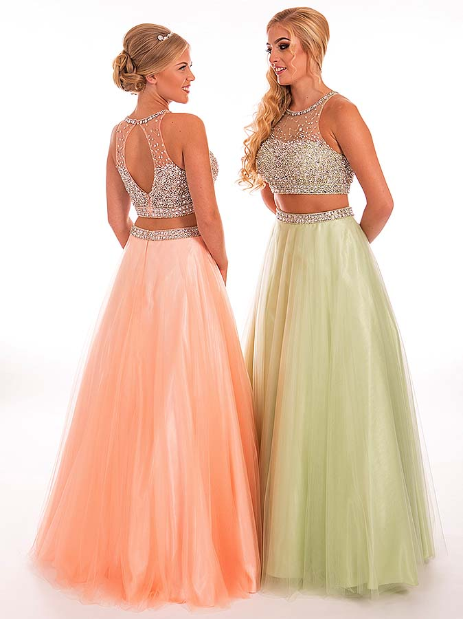 Prom Frocks Peach and Apple Prom Dress