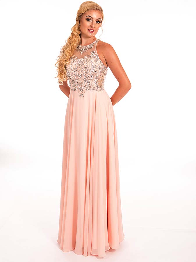 Prom Frocks PF9262 Blush Prom Dress - Prom Frocks UK Prom Dresses