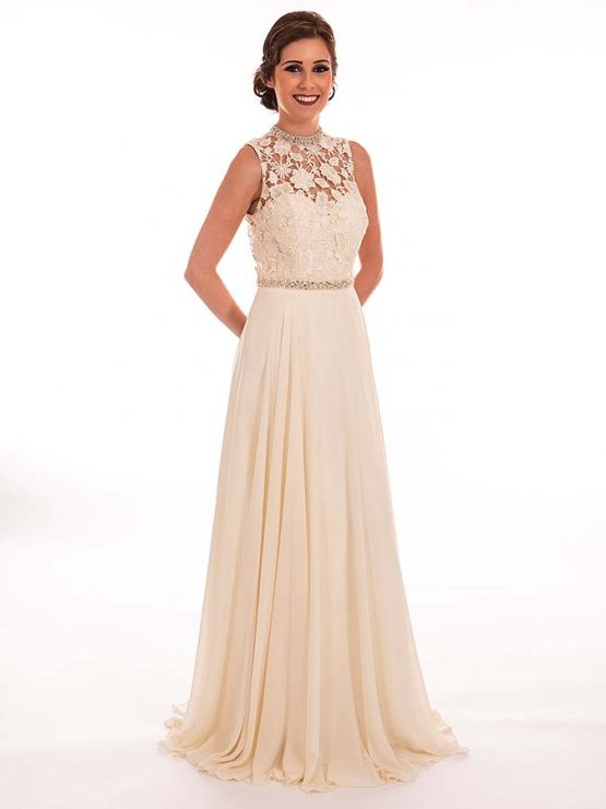 Cream White Prom Dress – fashion dresses