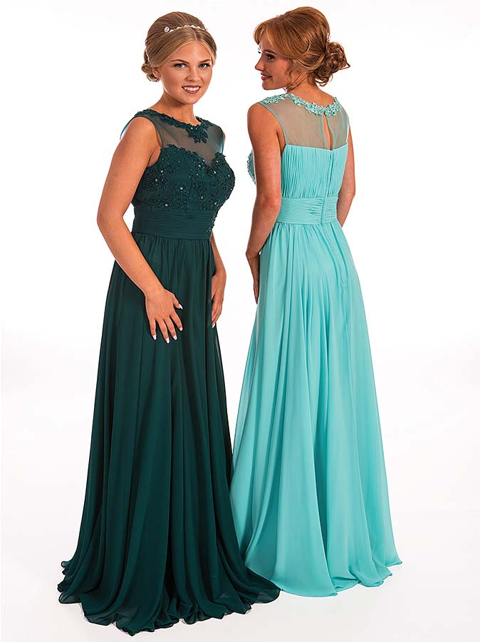 Prom Frocks Emerald Green and Tiffany-Blue Prom Dresses