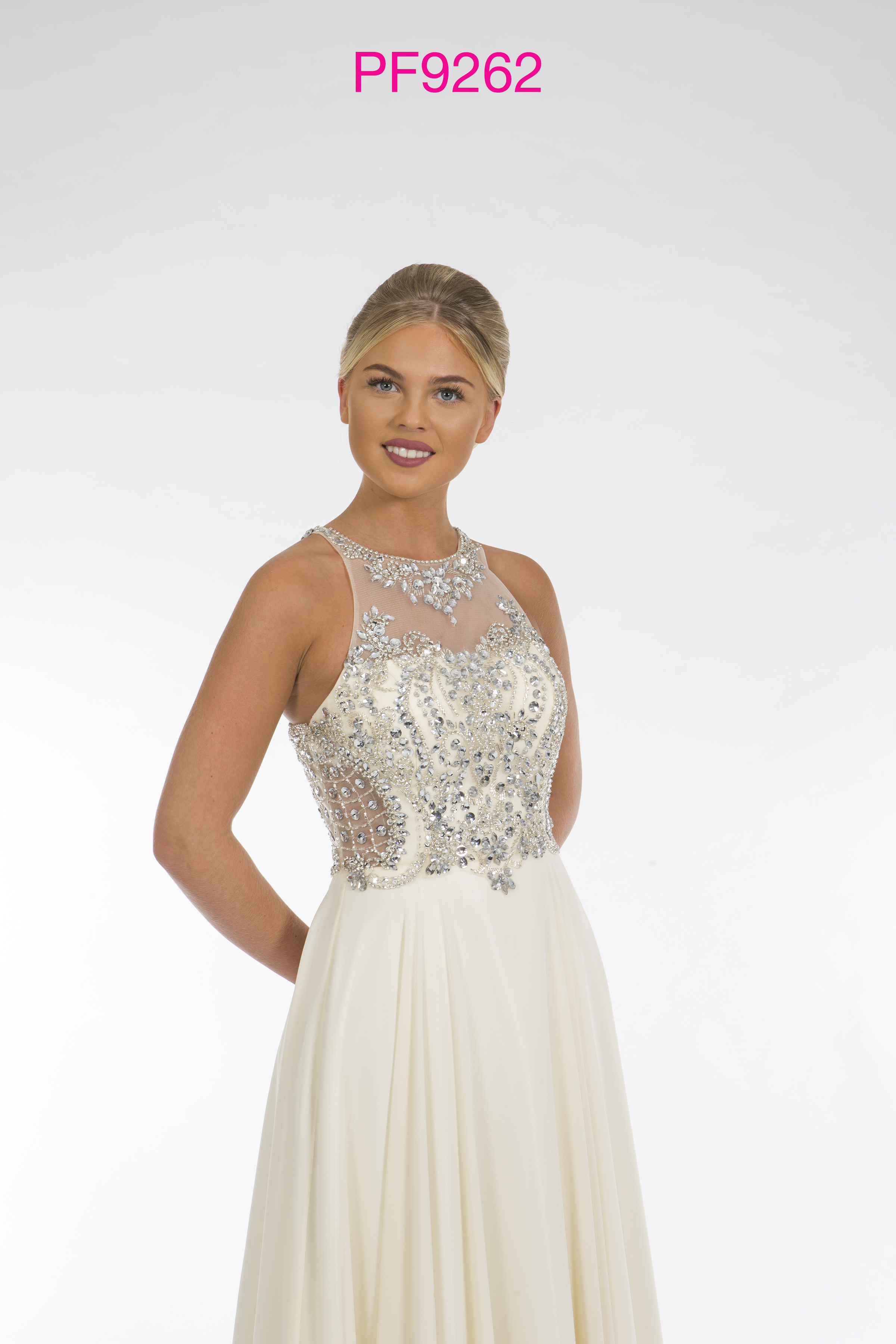 Prom Frocks PF9262 Cream Prom Dress - Prom Frocks UK Prom Dresses