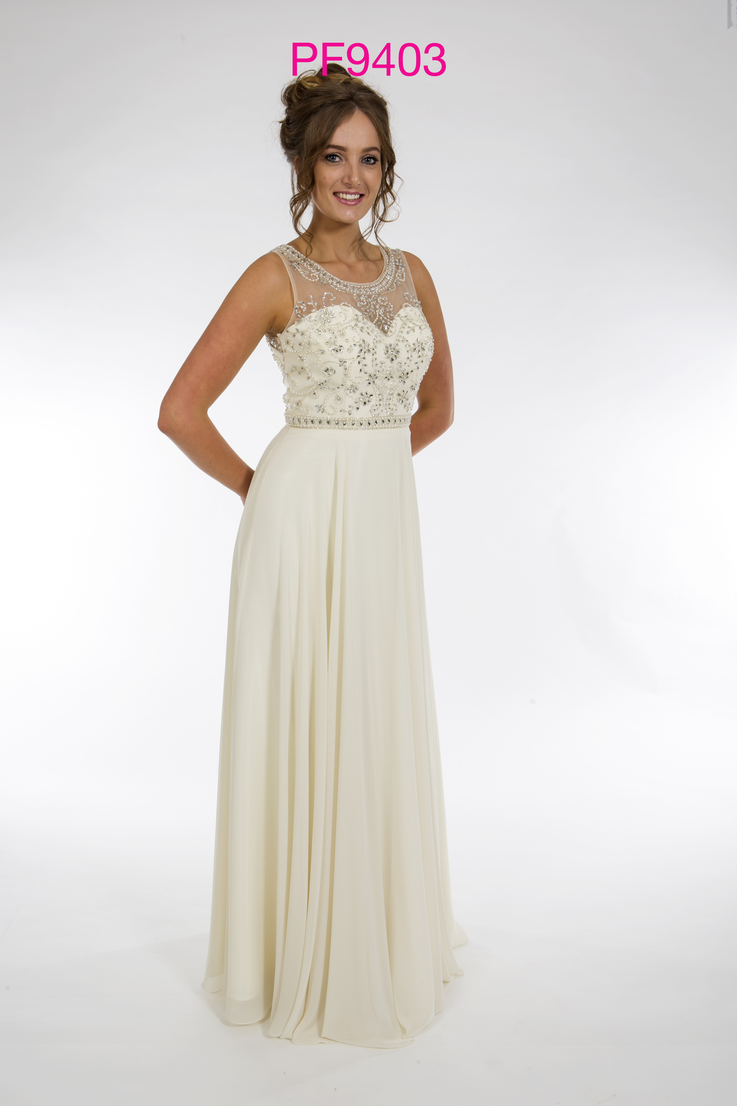 Prom Frocks PF9403 Cream Prom Dress - Prom Frocks UK Prom Dresses