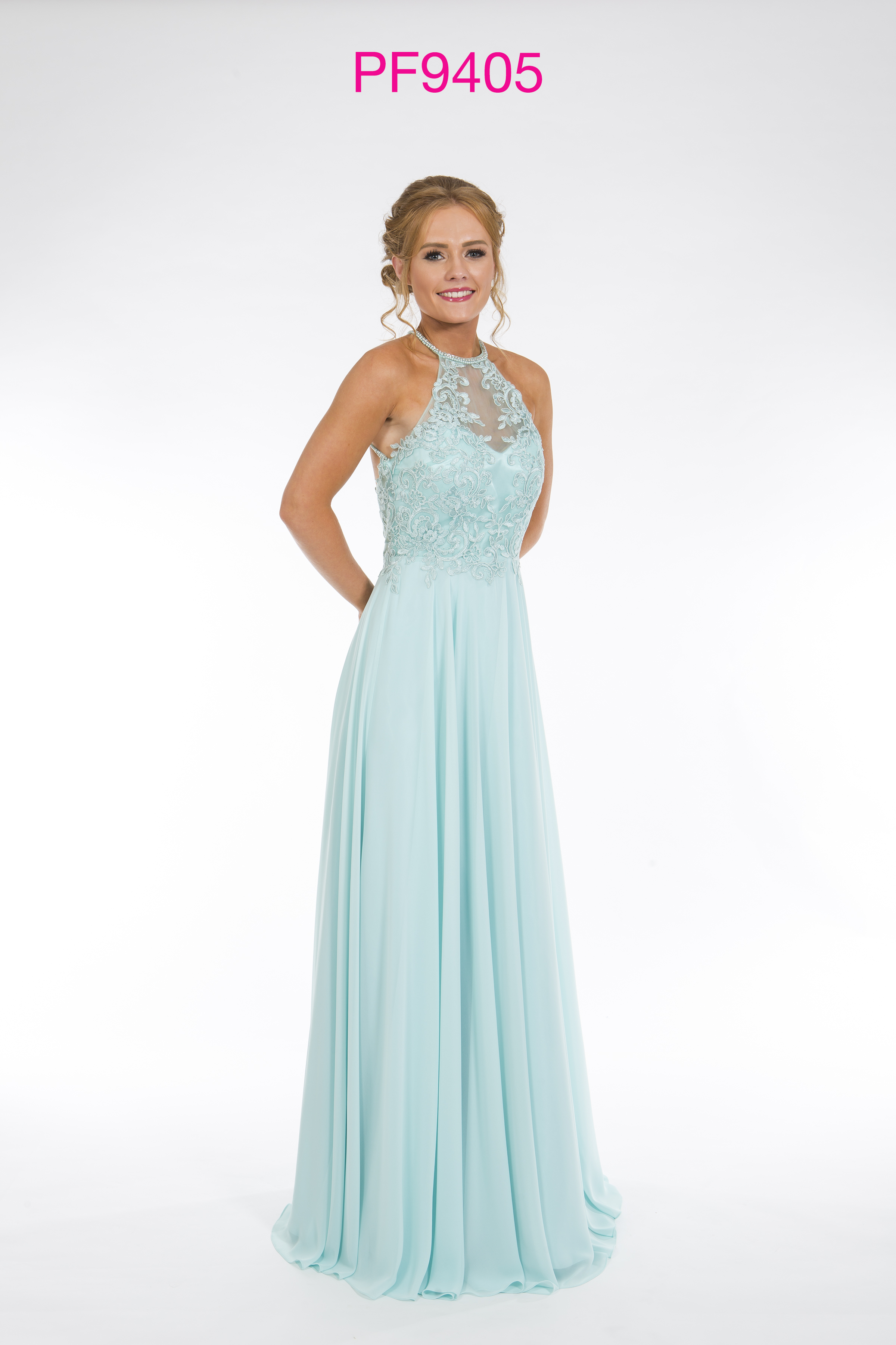 Prom Frocks PF9405 Aqua Prom Dress - Prom Frocks UK Prom Dresses