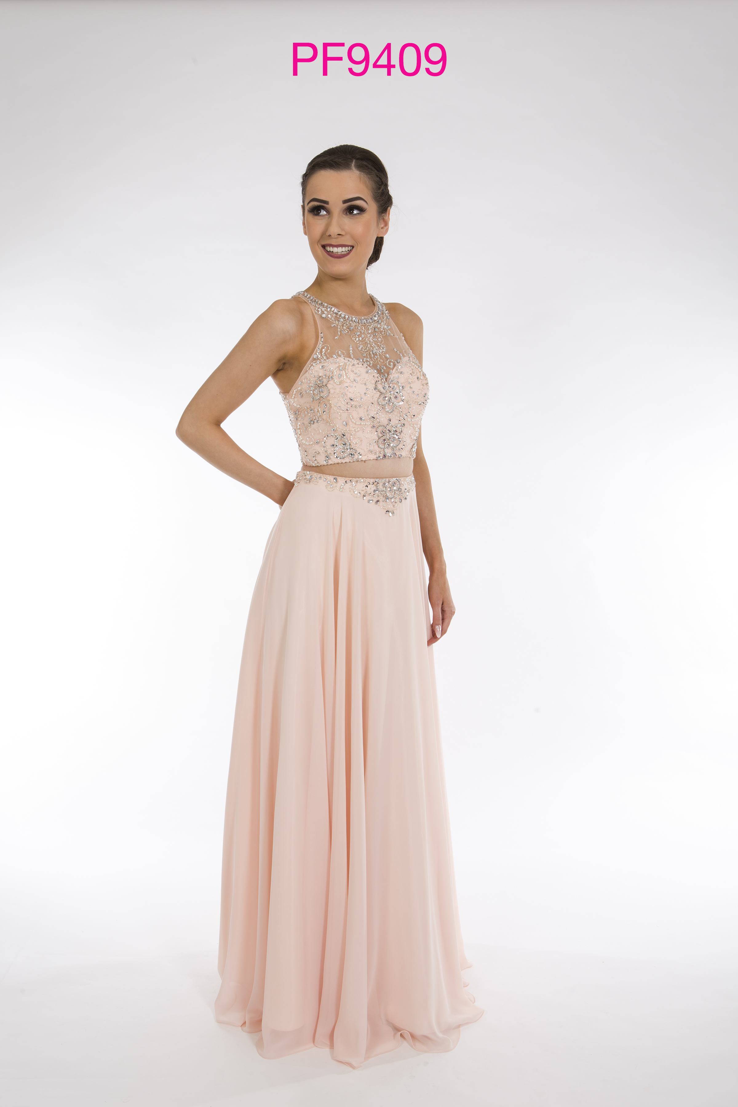 Prom Frocks PF9409 Blush Prom Dress - Prom Frocks UK Prom Dresses