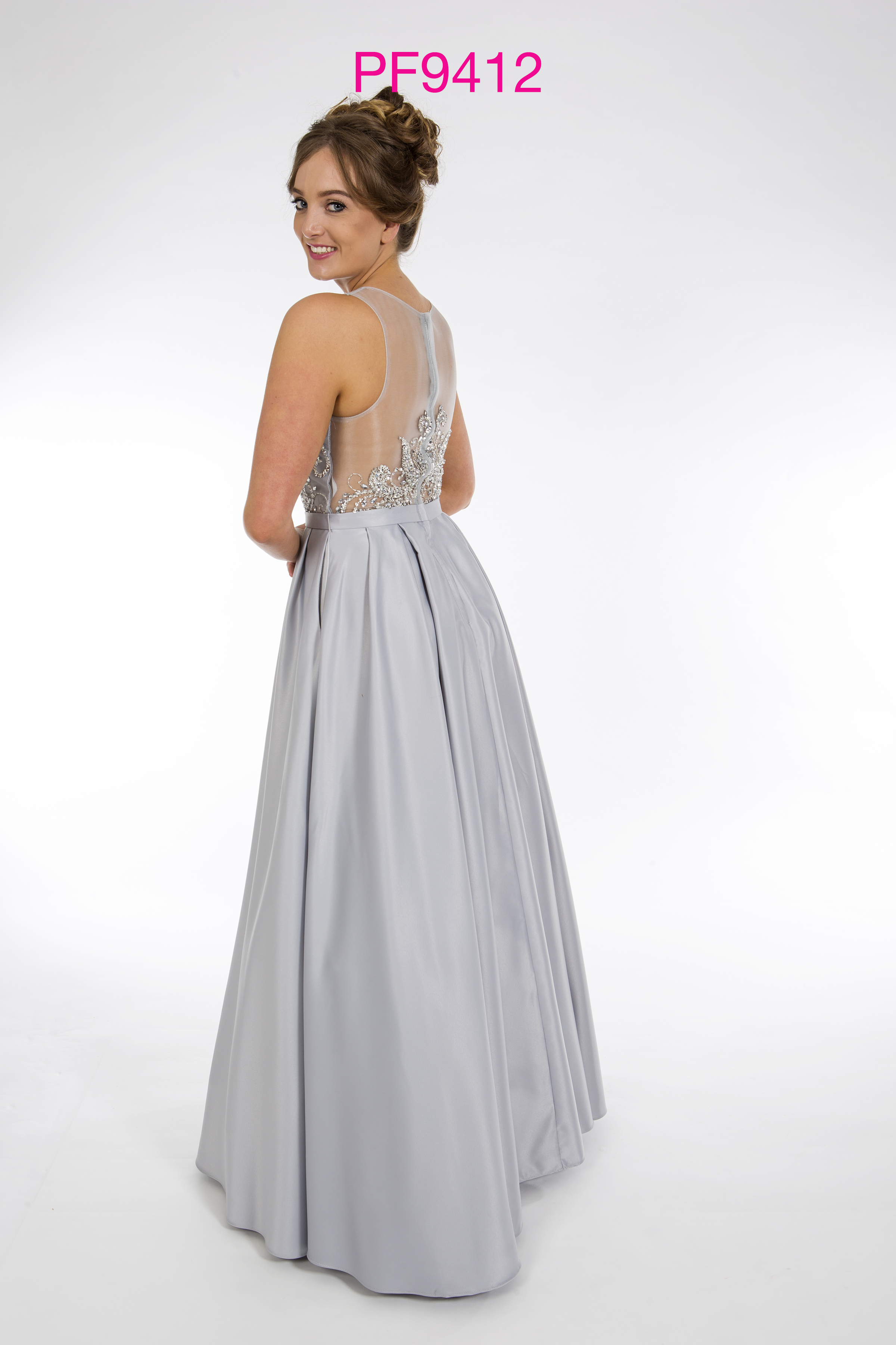 Prom Frocks Pf9412 Grey Prom Dress Prom Frocks Uk Prom