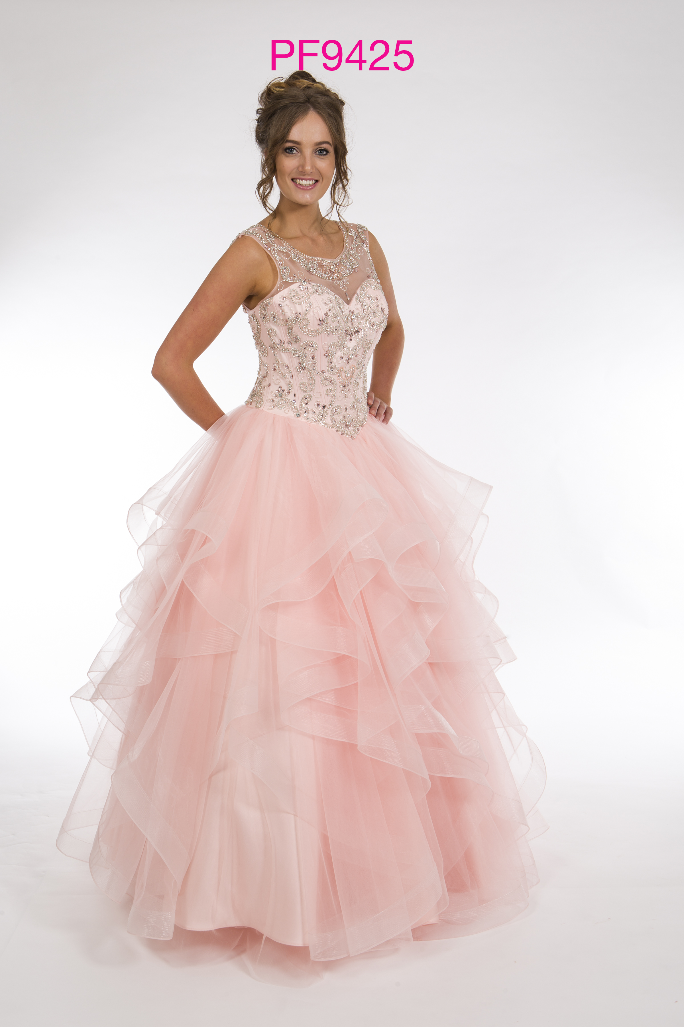Prom Frocks PF9425 Blush Prom Dress - Prom Frocks UK Prom Dresses